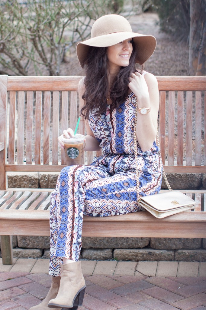How to wear a jumpsuit, winter to spring transition