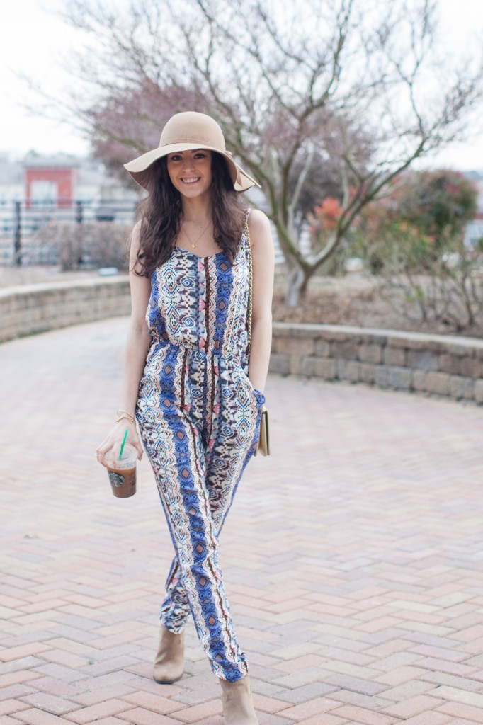 Transitioning To Spring In A Jumpsuit Lush To Blush