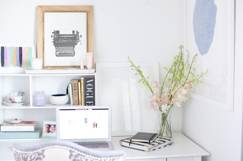 desk styling tips, desk styling, inspiring workspace, working from home