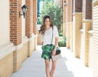 tropical print shorts, boyfriend shorts, oversized, summer, lush to blush, atlanta style blogger