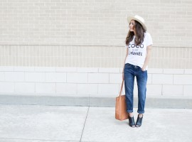 boyfriend jeans, how to style a tee, t shirt, different ways to wear a t shirt, style, atlanta style blogger, casual style