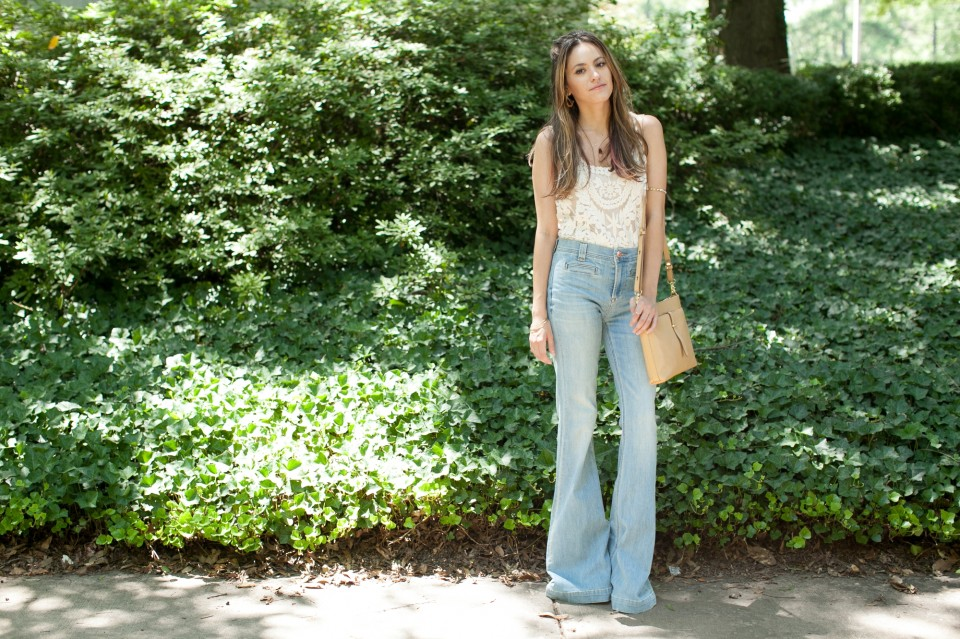 70s style, bell bottoms, atlanta style blogger, summer, retro, vintage, throwback