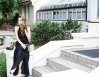 black maxi dress, what to wear to a wedding, summer, style, glamorous, summer wedding style, fall wedding style