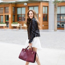 fall style, shopping, sheinside, faux leather jacket, buckhead, vince camuto, chinese laundry