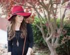 fall, winter, december, asymmetrical wrap skirt, asymmetrical wrap dress, atlanta style blogger, riffraff, shop tobi, dolce vita, wide brim fedora hat, garnet fedora