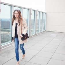 atlanta style blogger, business casual, weekend brunch, meeting outfit, winter outfit ideas, nude zara court room heels, dittos denim leggings, black cashmere sweater Calypso St. Bart, chanel, bella bag, Lookbook store, Vintage Inspired Camel Coat