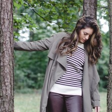 fall style, cabin fever, winter style, atlanta style blogger, asos olive trench, current elliott coated jeans, coated denim, loft, off broadway shoe warehouse boots, lace up boots