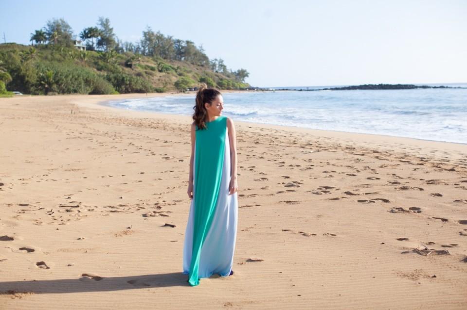 kauai, hawaii, pineapple, l*space KAELLA BIJOUX, mosaic boutique, bcbg BETHANIE DRESS IN SEA GREEN, maxi, beach, travel, vacation, resort style, summer style, beach life, island life