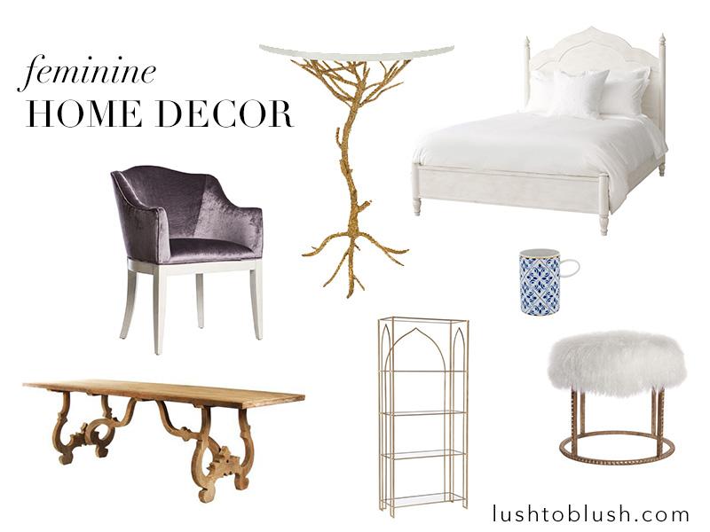 feminine home decor inspiration, home decor ideas, gold and white home decor, scenario home, glamorous home decor, elegant home decor